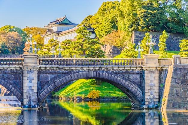 Piękny krajobraz z kamiennym mostem