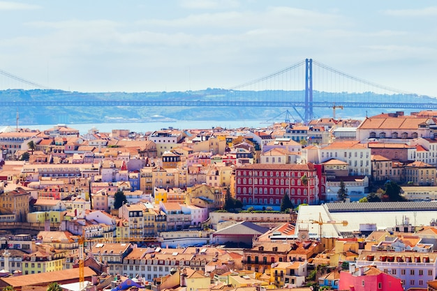 Piękny krajobraz z lizbony.
