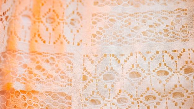 Piękny materiał tekstylny w drobnej siateczce