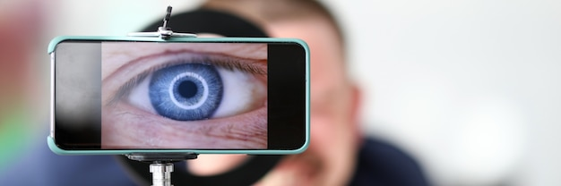 Piękny niebieski kolor oka