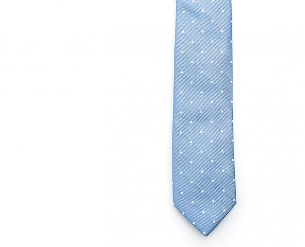 Piękny niebieski krawat na białym tle