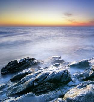 Piękny pejzaż morski.