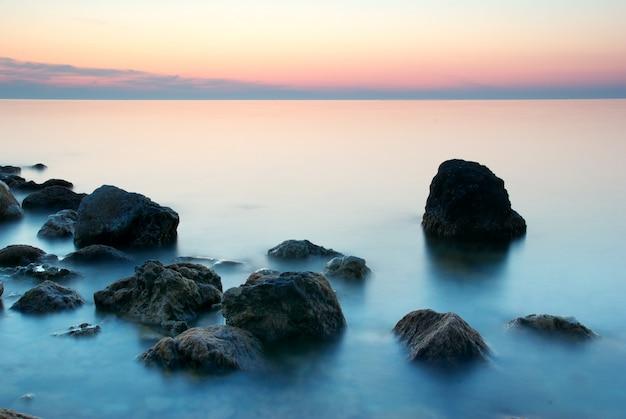Piękny pejzaż morski