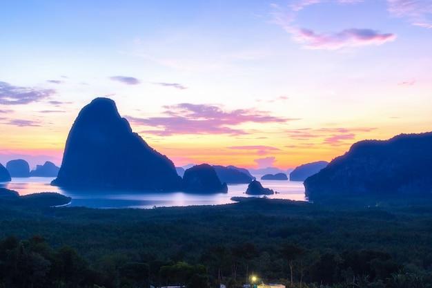 Piękny punkt widokowy na samet nang she