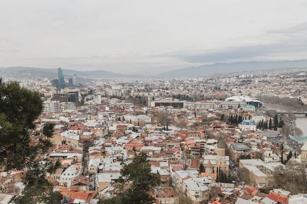 Piękny punkt widzenia miasta tbilisi, gruzja