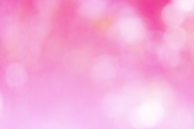 Piękny różowy bokeh nieostry