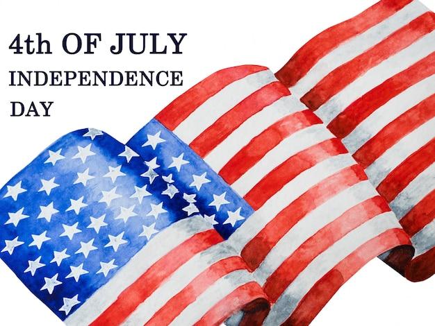 Piękny rysunek flagi amerykańskiej