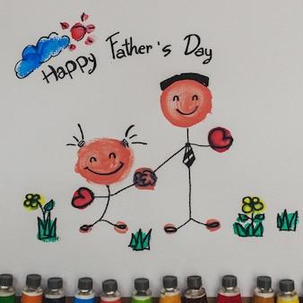 Piękny rysunek na dzień ojca