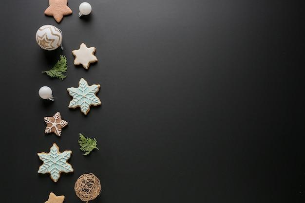 Piękny skład noworoczny na ciemnym tle
