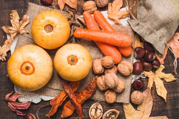 Piękny skład zbiorów jesienią