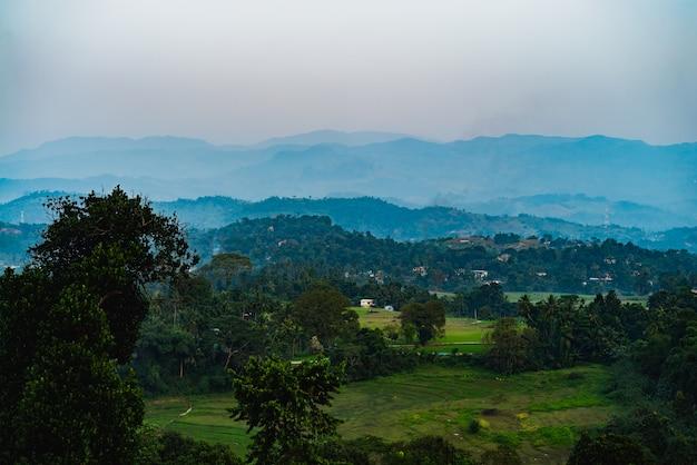 Piękny st.clairs siklawy krajobraz w sri lanka