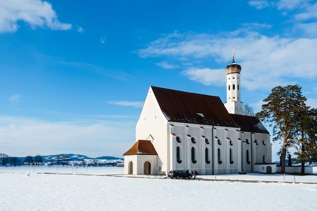 Piękny st. koloman schwangau w bawarii, niemcy