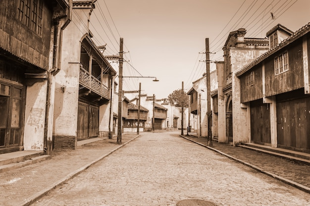 Piękny stary widok na miasto