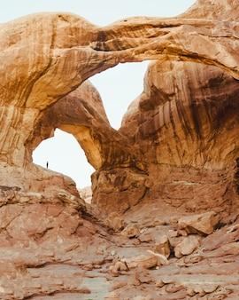 Piękny strzał grand canyon skały