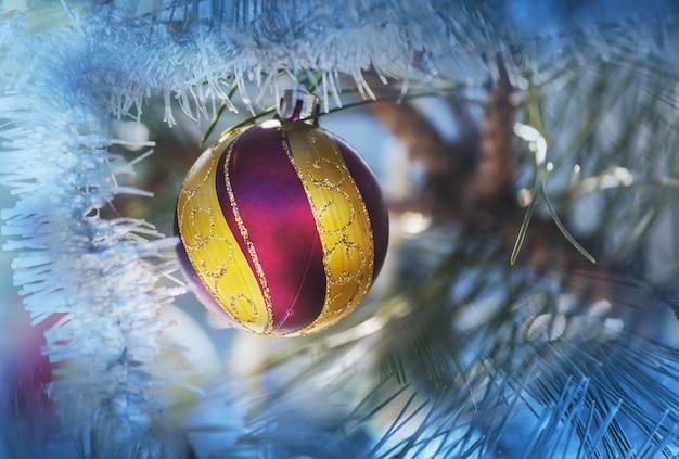 Piękny tradycyjny świąteczny wystrój zbliżenie