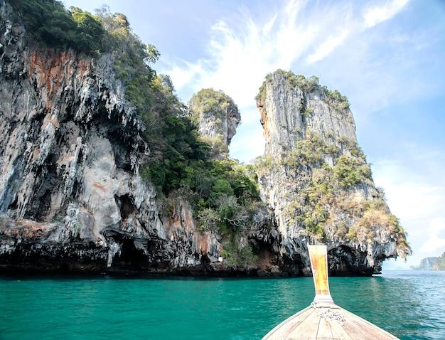 Piękny tropikalny, błękitny morze krabi, tajlandia