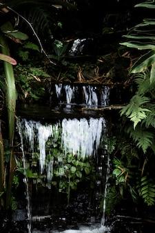 Piękny tropikalny wodospad