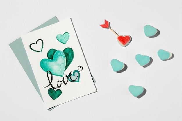 Piękny Układ Miłości Na Białym Tle Darmowe Zdjęcia