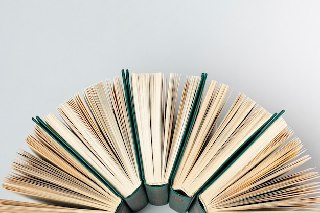 Piękny układ różnych książek