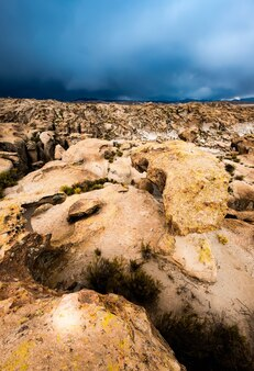 Piękny widok na góry boliwijskie?