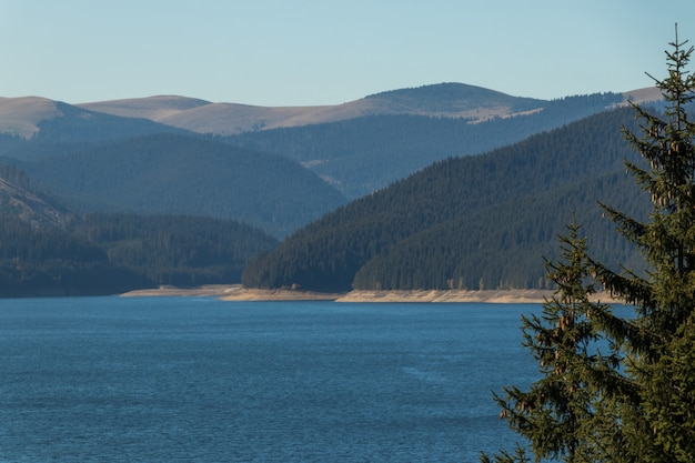 Piękny widok na jezioro