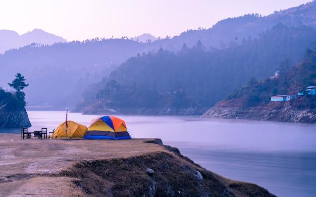 Piękny widok na krajobraz w nepalu