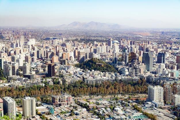 Piękny widok na miasto santiago de chile