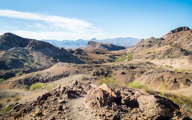 Piękny widok na pustynię w arizonie w usa