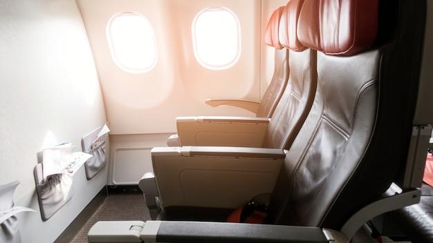 Piękny widok z klasy biznes samolotów