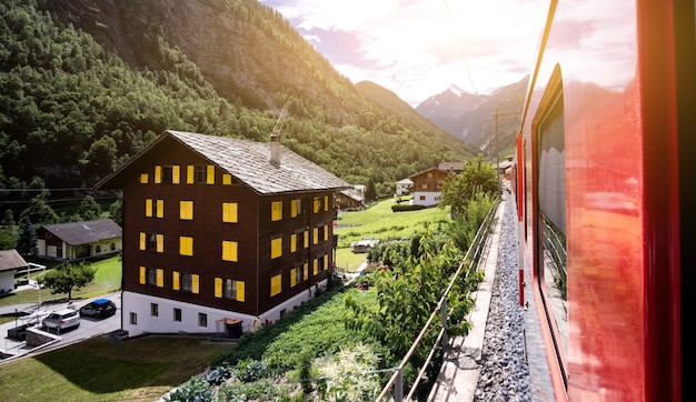 Piękny widok z pociągu