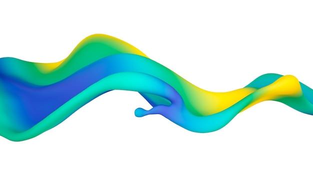 Piękny wielokolorowy plusk płynu lub farby. ilustracja 3d, wizualizacja 3d.