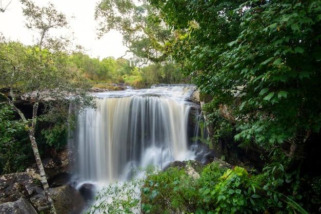 Piękny wodospad w dżungli lasów tropikalnych