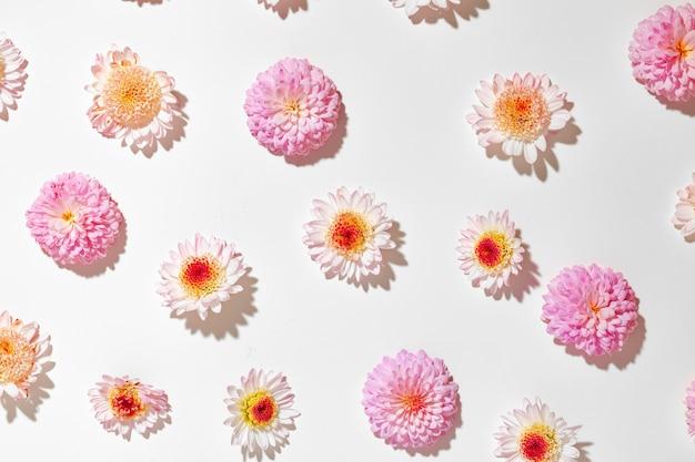 Piękny wykonany z jasnych pąków kwiatowych
