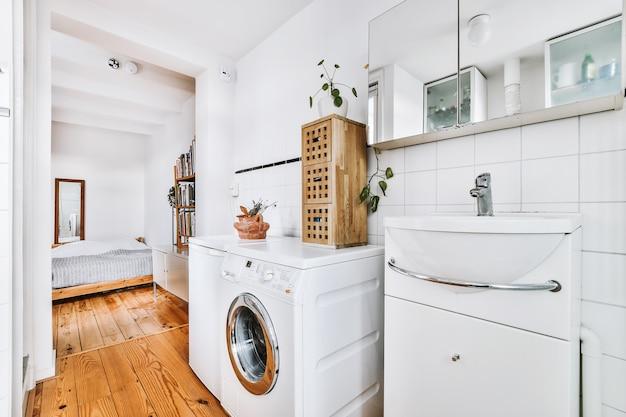 Piękny wystrój nowoczesnej łazienki