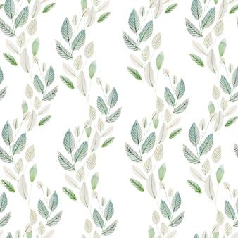 Piękny wzór akwarela z ziołami.
