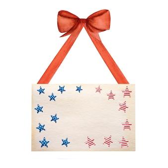 Piękny wzór w kolorach flagi amerykańskiej.