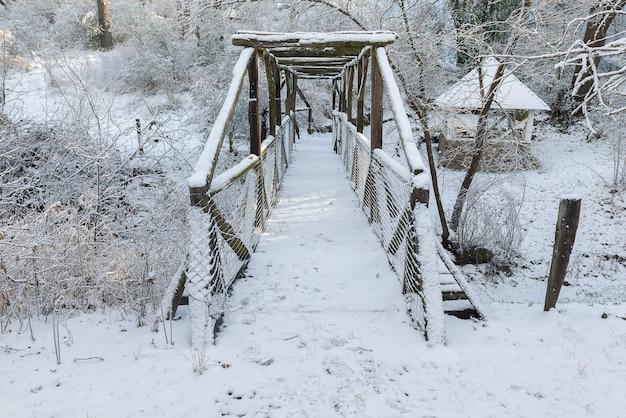 Piękny zima krajobraz na górze