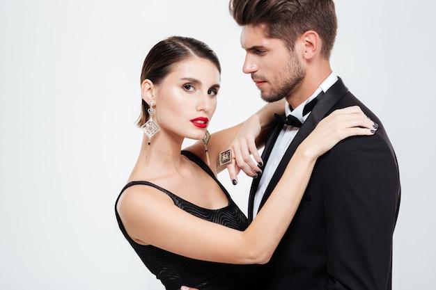 Pięknych ludzi biznesu tańczy.