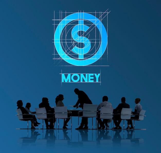 Pieniądze finansowi ludzie biznesu technologii grafiki pojęcia