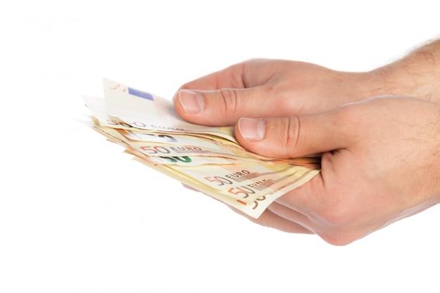 Pieniądze na białym tle
