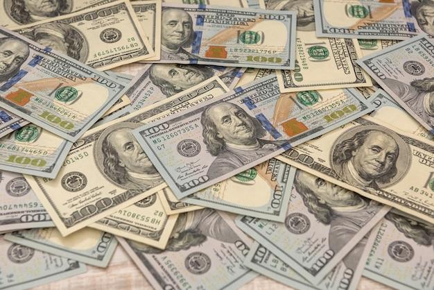 Pieniądze rachunki dolarowe, koncepcja finansowa