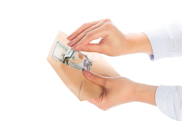 Pieniądze w kopercie, korupcja.