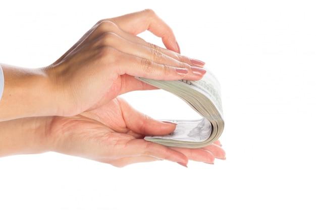 Pieniądze w rękach