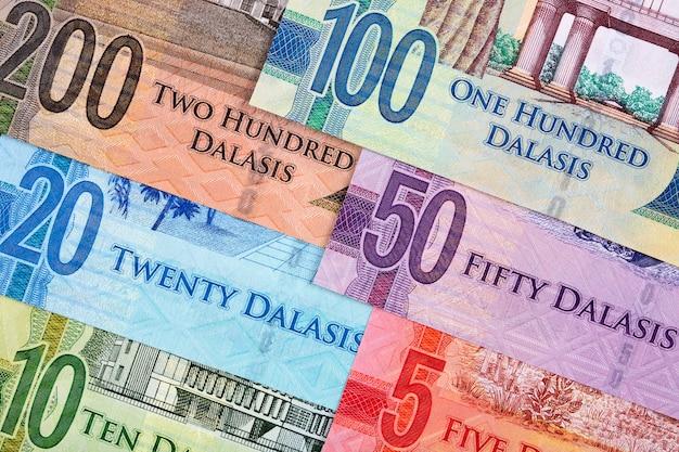 Pieniądze z gambii - dalasi powierzchnia biznesowa