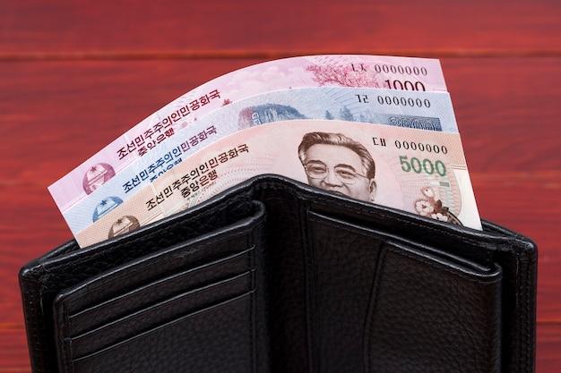 Pieniądze z korei północnej wygrane w czarnym portfelu