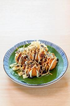 Pierogi takoyaki z ośmiornicą