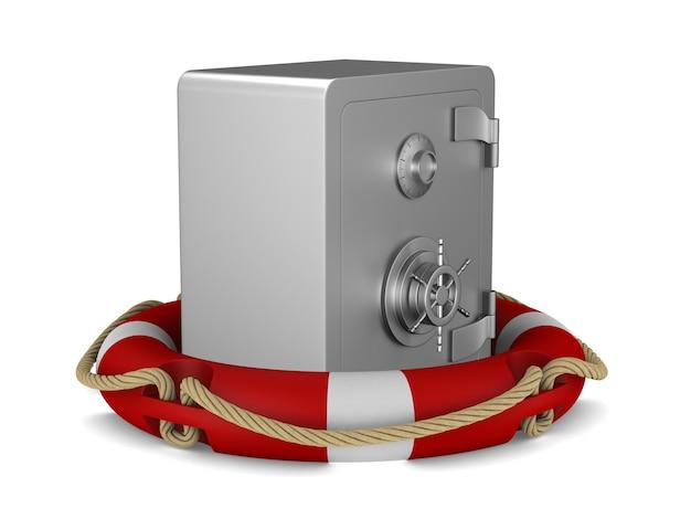 Pierścień bezpieczeństwa i życia. izolowane renderowanie 3d
