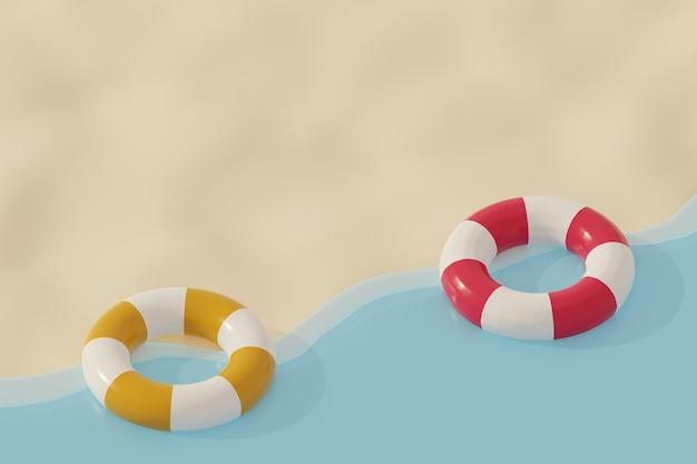 Pierścień bezpieczeństwa na plaży