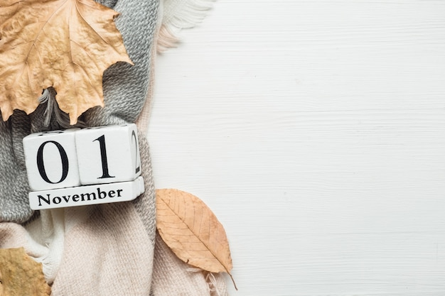Pierwszy dzień jesiennego miesiąca - listopad.