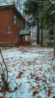 Pierwszy śnieg we wsi